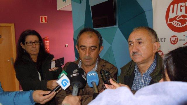 José Antonio Gómez y Pepe Álvarez, de UGT