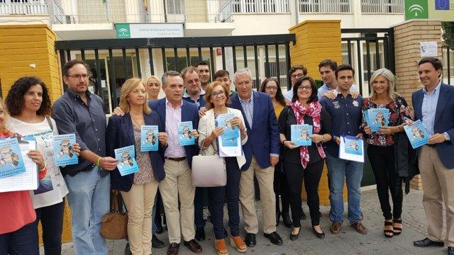 Los populares en Alcalá.