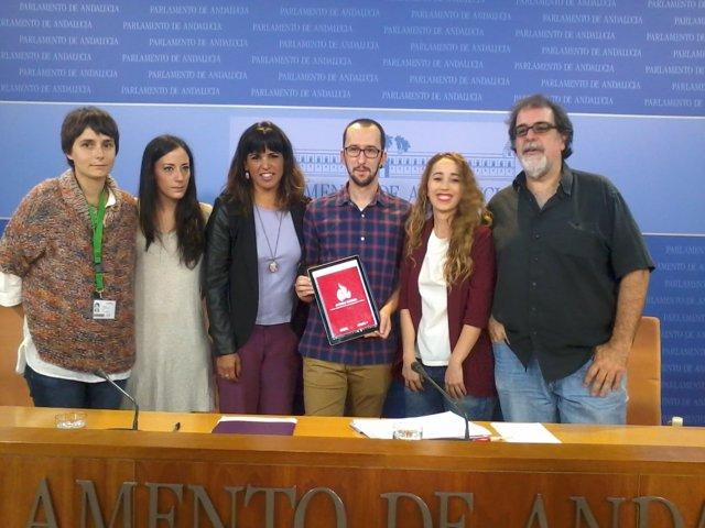 Rueda de prensa de Podemos Andalucía para presentar el Informe Doñana
