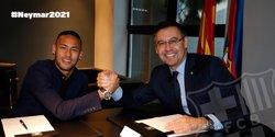 Neymar signa fins al 2021 amb una clàusula ascendent fins a 250 milions (FCB)