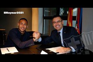 Neymar firmado hasta 2021 con una cláusula ascendente hasta los 250 millones de euros