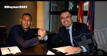 Neymar firmado hasta 2021 con una cláusula ascendente hasta los 250...