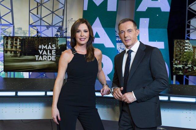 Mamen Mendizábal e Hilario Pino, en Más vale tarde