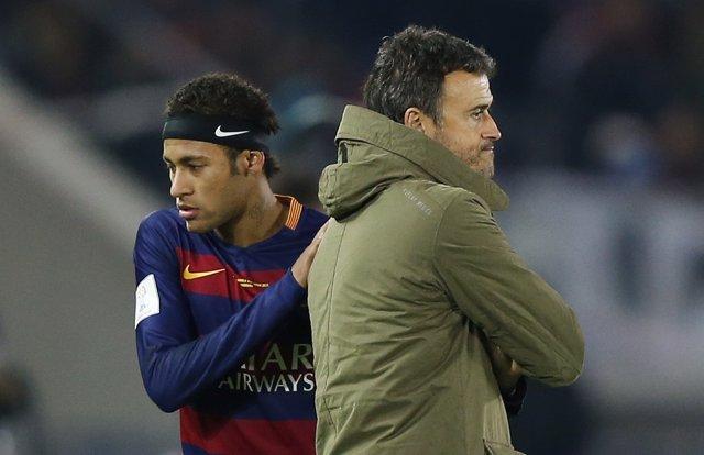 Luis Enrique y Neymar (Barcelona)