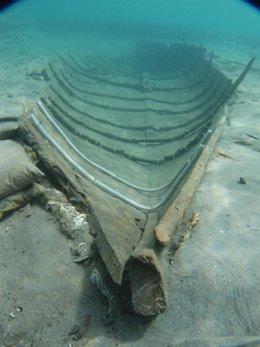 Imagen del barco fenicio de Mazarrón