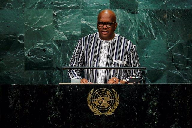 El presidente de Burkina Faso, Roch Marc Christian Kabore