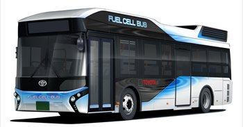 Toyota venderá autobuses de pila de combustible en Japón