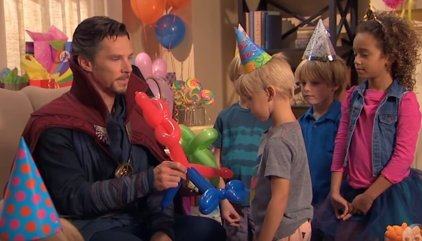 VÍDEO: Doctor Strange (Benedict Cumberbatch) destroza el cumpleaños del hijo de Jimmy Kimmel