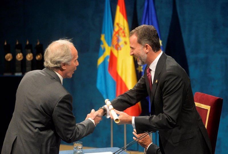 El Rey Felipe VI, en la ceremonia de entrega d elos Premios Princesa de Asturias