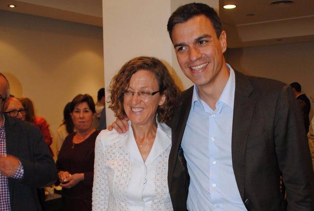 Gloria Rojas y Pedro Sánchez