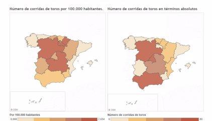 Las comunidades autónomas más taurinas y otras cifras sobre las corridas de toros en España