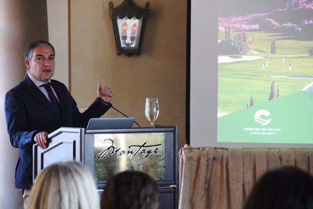 Elías Bendodo, presidente Diputacion y Turismo Costa del Sol, en EEUU