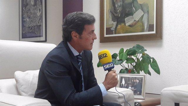 El Delegado del Gobierno en Murcia, Antonio Sánchez-Solís