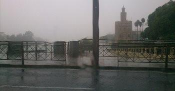 Más de centenar de incidencias por las lluvias en Andalucía occidental