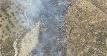 Declarado un incendio forestal en un paraje de Pinos Genil (Granada)