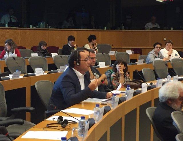 Camacho (IU) en Parlamento Europeo