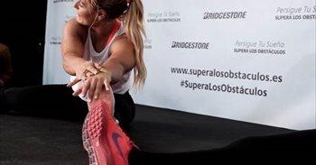 Lidia Valentín amadrina una sesión de fitness en un acto de apoyo a los...