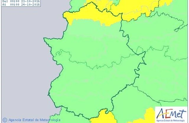 Alerta amarilla en el norte de Cáceres