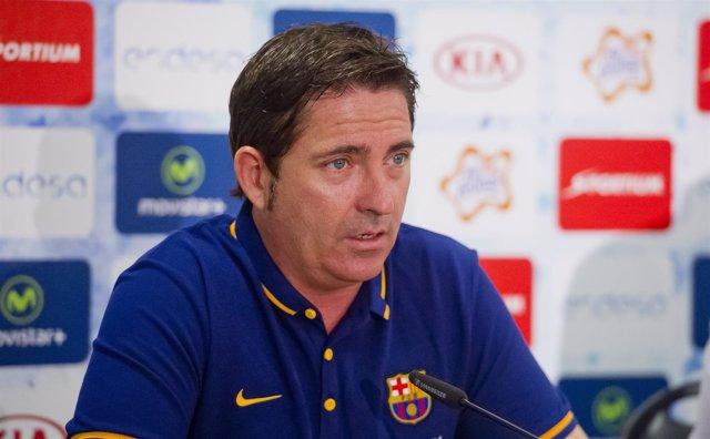 El entrenador del FC Barcelona Lassa Xavi Pascual