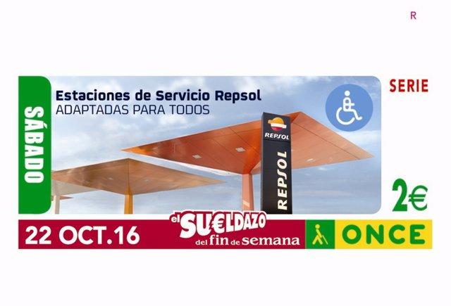 La ONCE Dedica Dos Cupones A Las Estaciones De Servicio De Repsol Por La Inclusi