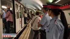 Mossos registren 60 furts al dia en el Metro i 300 ordres d'allunyament de carteristes (MOSSOS D'ESQUADRA)