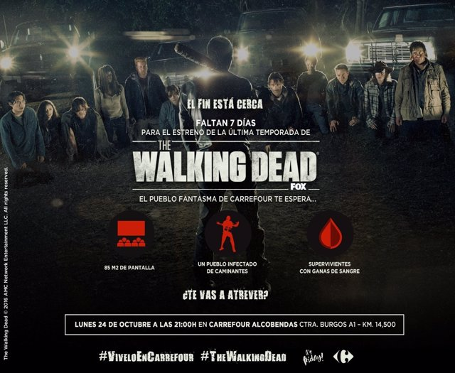 The Walking Dead organiza un pueblo fantasma en Carrefour
