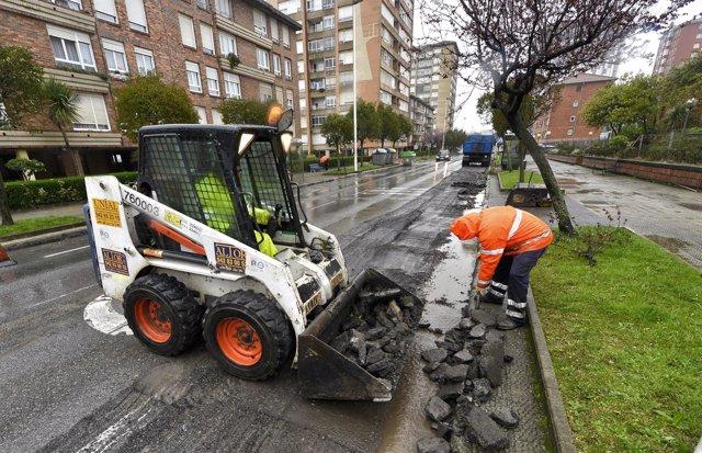 Labores de asfaltado