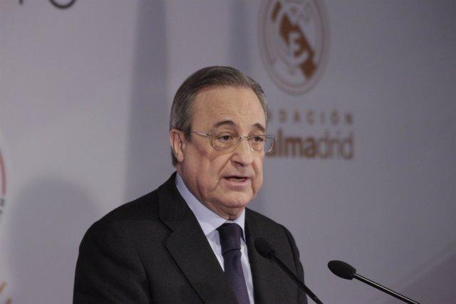 Florentino Pérez en la presentación del Corazón Classic Match