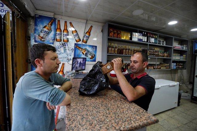 Comercio de alcohol en Bagdad