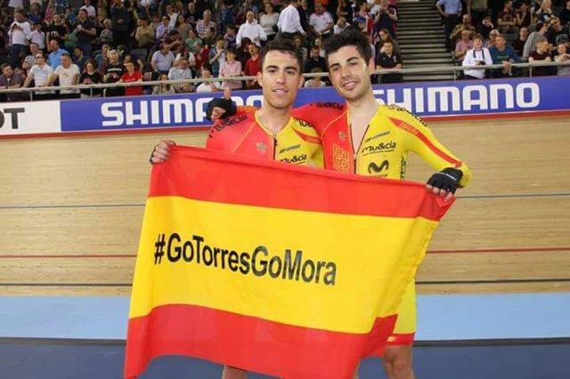 Albert Torres y Sebastián Mora, campeones de Europa de ciclismo en pista