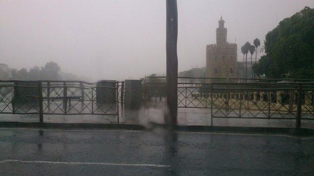 Lluvia en Sevilla