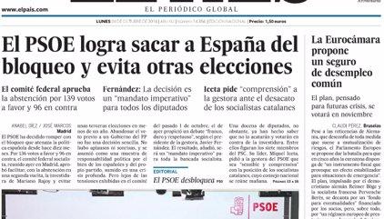Las portadas de los periódicos de hoy, lunes 24 de octubre de 2016