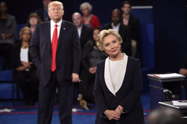 Segundo debate televisado entre Clinton y Trump