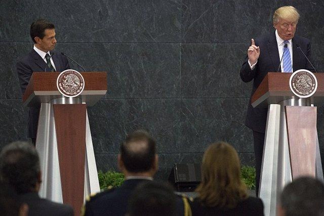 Donal Trump y Enrique Peña Nieto
