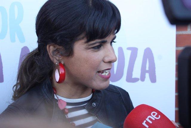 La secretaria general de Podemos en Andalucía, Teresa Rodríguez, en Granada
