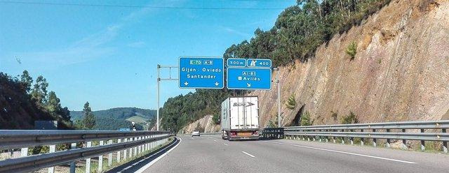 Tráfico, Asturias, Carretera, A-8, coche