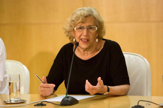 Manuela Carmena en la presentación de la operación