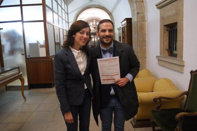 Marta Lois y Germán González presentan el 'Santiago(é)Tapas'