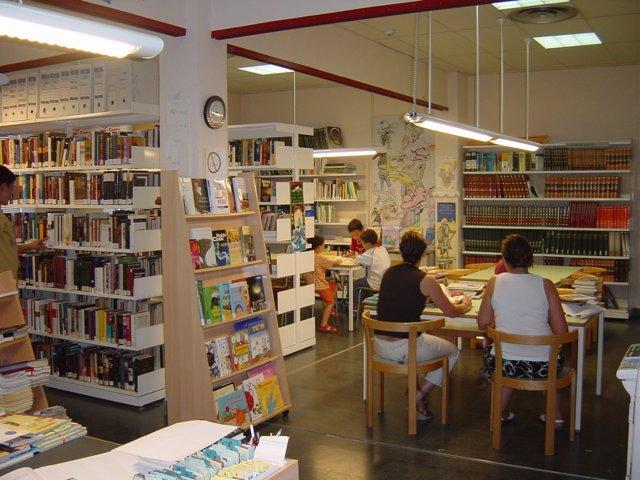 Una de las bibliotecas