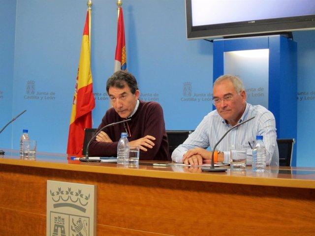 Angel Hernández y Evelio Angulo, de CCOO y UGT, respectivamente.