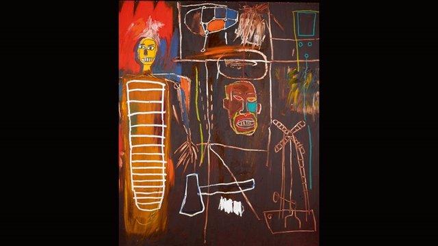 Obra 'Air Power', de Basquiat, propiedad de la colección de David Bowie