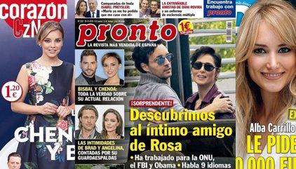 Chenoa y Bisbal en la actualidad, Alba Carrillo pide 120.000 euros y el amigo de Rosa López