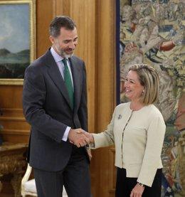 Felipe VI Recibe Hoy En El Palacio De La Zarzuela A La Diputada De CC