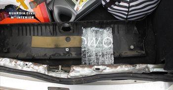 Dos detenidos en Otero (Toledo) cuando transportaban un kilo de cocaína