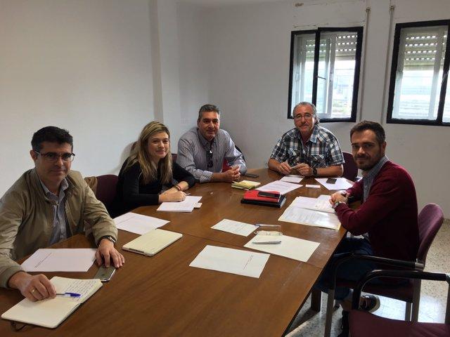 Reunión de Felipe Sicilia con UGT Linares