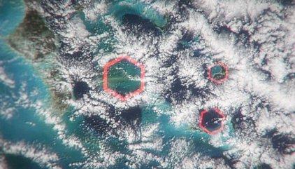 Nubes hexagonales explican el misterio del Triángulo de las Bermudas