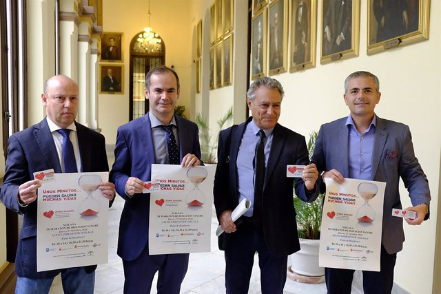 Presentación de la novena maratón de donación de sangre andrade