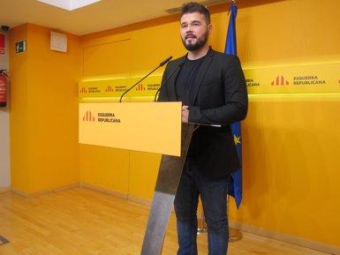 """Rufián: """"El PSOE té de socialista i obrer el que jo de capellà"""" (EUROPA PRESS)"""