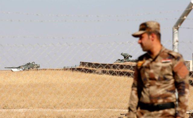 Tanque turco en la base de Bashiqa (Irak)