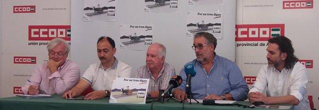 Rueda de prensa de la mesa del ferrocarril de Almería